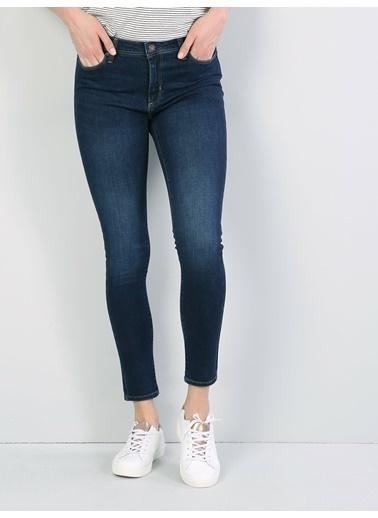 Colin's 759 Lara Slim Fit Orta Bel Dar Paça Jean Pantolon Renkli